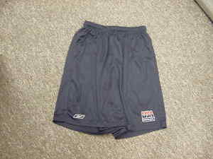USA-Men-039-s-Basketball-Team-Issued-Reebok-Coaches-Practice-Shorts-Navy-Size-Med