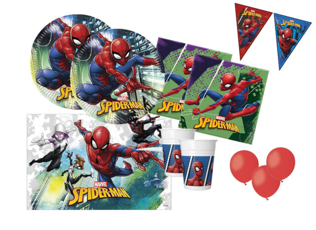 Tavolo Compleanno Uomo : Kit n compleanno bambino spiderman decorazioni tavola uomo ragno