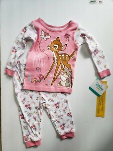 Disney-Bambi-Toddler-Girls-2-pc-Pink-Pajama-Sets-Various-Sizes-NWT