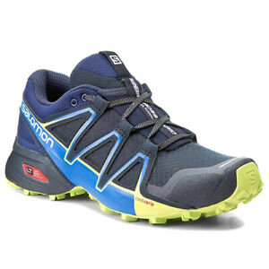 Salomon-Men-039-s-Speedcross-Vario-2-Trail-Running-Shoes-Navy-Blazer-PN-L39452400