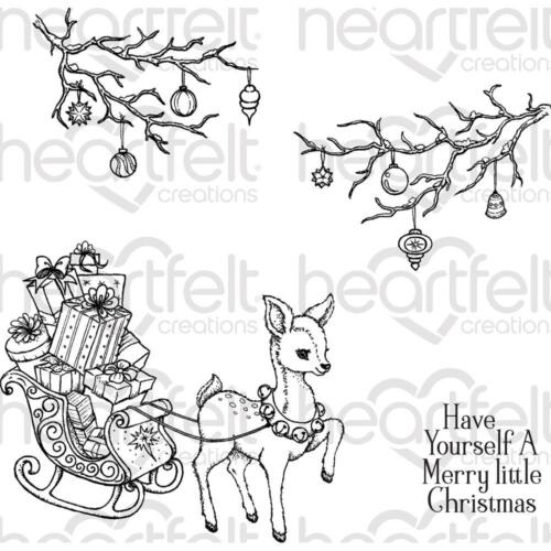 Heartfelt Creations Stamps ~ MERRY LITTLE CHRISTMAS ~ HCPC3836