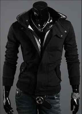 NEW TOP Fashion Men's Slim Designed Hooded Cardigan Coat Jacket Korean Warm Fit
