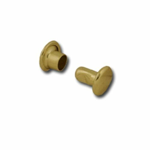 Double Cap Rivets X-Small Steel Brass Plated 100 Pack 1378-11 by Stecksstore