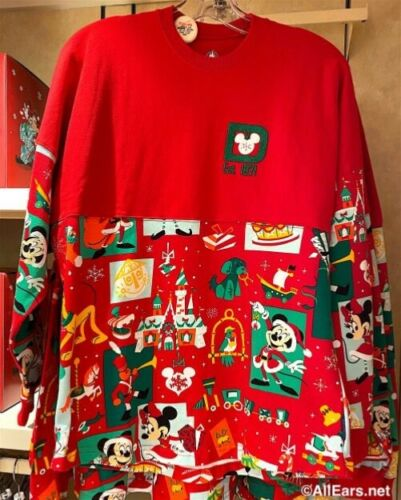 Disney Parks 2020 Mickey Mouse Christmas Spirit Jersey Adult Size Medium NWT