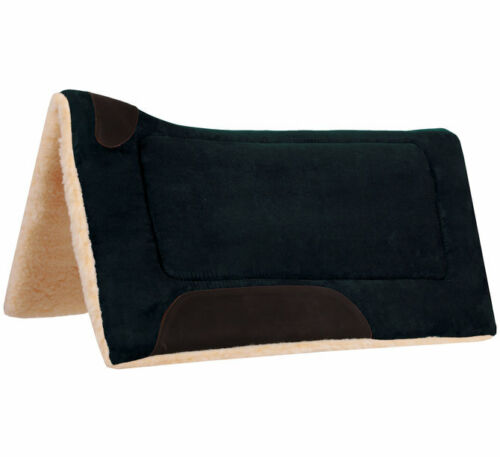 """2 Colors Available NEW Details about  /Faux Suede Contoured Saddle Pad  32/"""" x 32/"""""""
