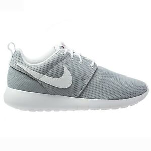 9819b4e79f3d7 Nike Roshe One Big Kids 599728-038 Wolf Grey Mesh Athletic Shoes ...