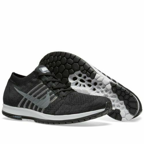 de7e862fdb0d0 NIKE Flyknit Streak Men's Shoes Sneakers 835990 010 Black Grey White, Sz  8.5 NIB