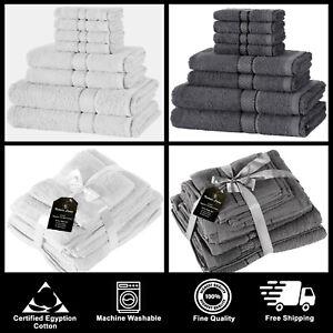Conjunto-de-toallas-de-8-Piezas-De-Lujo-Set-100-Puro-Algodon-Egipcio-Cara-Mano-Toallas-De-Bano
