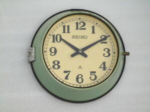 Vintage Maritime Slave Clock Navigation Ship Quartz Seiko Japan Chrome Edge