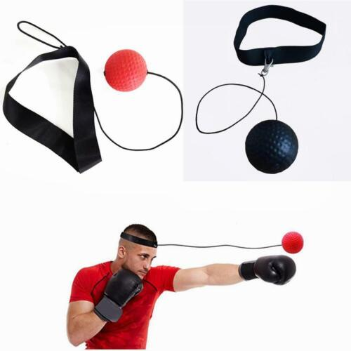 Boxing Head Speed Tennis Ball Boxing Punch Reflex Fitness Focus MMA Training New