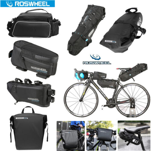 ROSWHEEL Waterproof Cycling Front Frame Bag Bicycle Rear Pannier Seat Saddle Bag
