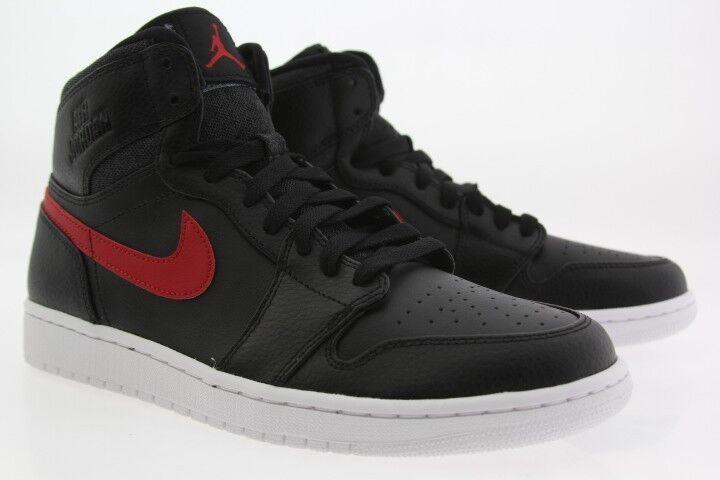 332550-012 Jordan hommes Air Jordan 1 Retro High noir gym rouge Blanc