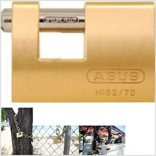 ABUS 82//70 KD U-Shaped Keyed Padlock,1//2 In H,KD