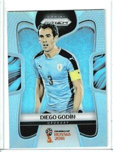 2018 Panini Prizm World Cup Soccer Diego Godin (Uruguay) SILVER PRIZM #211