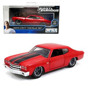 Jada-Rapido-y-Furioso-1-32-Diecast-Dom-039-s-Chevrolet-Chevelle-SS-coche-rojo-Modelo-Recoger