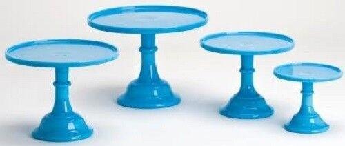Set 4 Gateau plaques Boulangerie Patisserie Cupcake Stands Plain simple robinegg Bleu Mosser