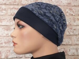 Reversible 2 in 1 Jersey Hat Headwear for Cancer Leukemia Hair Loss Chemo
