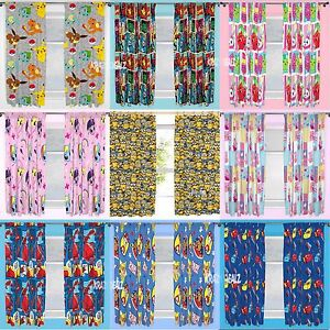 Official-Licensed-Character-Pleated-Curtains-54-034-or-72-034-Drop-Kids-Boys-Girls