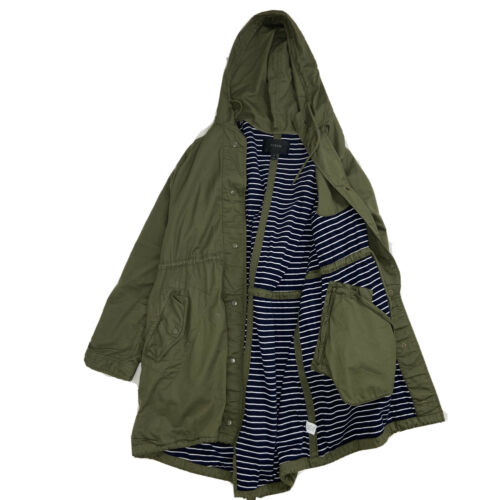 J.Crew Womemens Olive Green Trench Coat Size XL  W