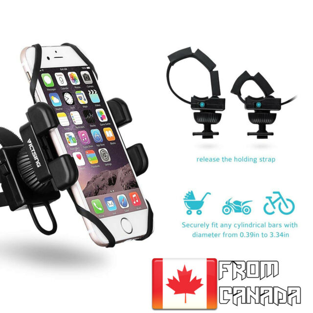 Universal Bike Motorcycle Cell Phone Mount Holder- For Smartphone up to 6 Inch