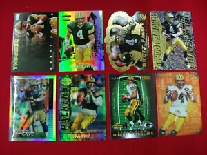 BRETT-FAVRE-8-DIFF-FOOTBALL-CARDS-GREEN-BAY-PACKERS-MUST-SEE-GREAT-CONDITION