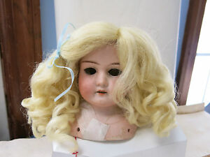 SIZE  15 LIGHT BROWN PAIGE  ANTIQUE MODERN DOLL WIGS  SYNTHETIC MOHAIR