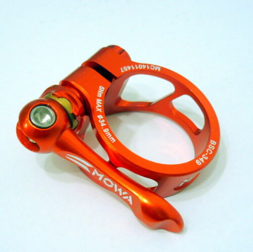 34.9mm A15 Orange 29g gobike88 MOWA QR Alloy Seatpost Clamp