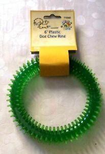 """6"""" En Plastique Pour Chien Chew Ring Pet Supplies Jouet-afficher Le Titre D'origine"""