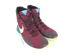 cheap for discount 58c53 9ef3f Image is loading Nike-HYPERDUNK-2015-N7-PRM-GARNET-LIME-MAROON-