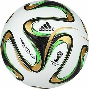 buy online 943a9 a41d8 Image is loading ADIDAS-BRAZUCA-OFFICIAL-SOCCER-MATCH-BALL-FINAL-FIFA-