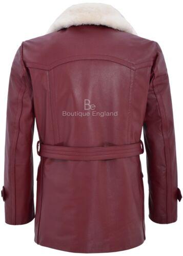 GERMAN Caban Cherry pelliccia MEN/'S CLASSIC reefer Militare hide Leather Jacket
