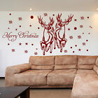 SANTA RAINDEER Wall Stickers XMAS Window Stickers SHOP WINDOW STICKERS Decal N89