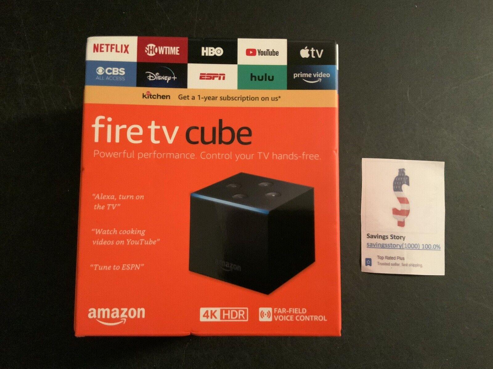 Amazon Fire TV Cube 16GB 2nd Gen Streaming Media Player Alexa NEW LATEST Model 16gb 2nd alexa amazon cube fire gen media player streaming