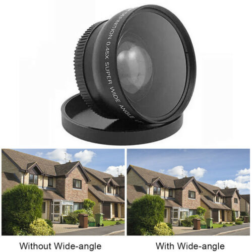0.45X Wide Angle Lens 58mm with Macro for Canon EOS 650D 50D 40D 400D 450D LF37