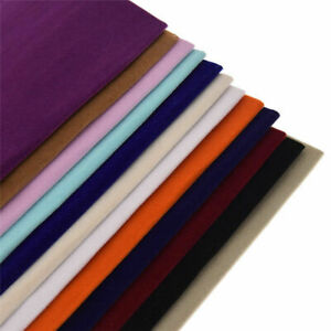Selbstklebend-Velours-Beflockung-Stoff-DIY-Naehen-Kleidung-Decke-Making-Material