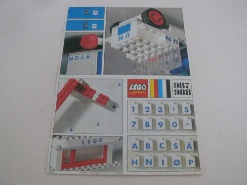 Lego notice set 987 instruction set 987
