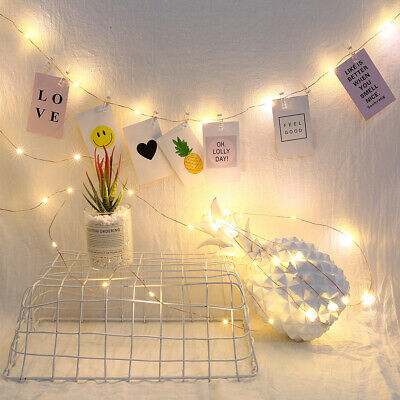 LED Photo Clip String Lights 10//20 Hanging Peg Clips Fairy Christmas Cards Store