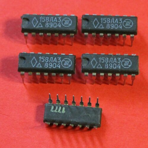 K158LA3 = SN74L00 IC Microchip USSR  Lot of 25 pcs