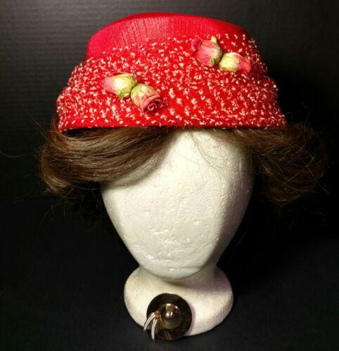 Red Rosebud Angels Breath Straw Hat Net Calot Chur