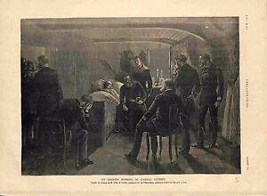 Ceremonie-Funebre-de-l-039-Amiral-Courbet-Navire-Le-Bayard-Suez-Egypte-GRAVURE-1885