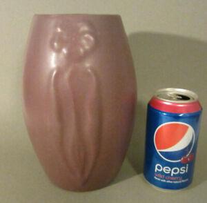 Antique-ARTS-amp-CRAFTS-Pottery-ZANESVILLE-Matte-Lavender-Purple-101-Vase-8-5-034