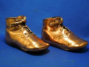 Bronzed-Baby-Toddler-Shoes-Stamped-1866-Mrs-Days-Ideal-Last