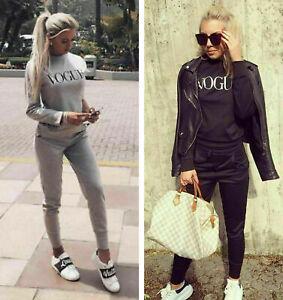 Nuevas-damas-Vogue-Co-Ord-puente-Top-Fondos-Salon-Wear-Suit-Chandal-Talla-8-14