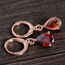 Lovely Charming 18K gold filled Teardrop cubic zirconia Women Drop Earrings
