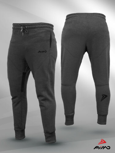 PIMD Prime Dark Grey Workout Gym Sweat pant Joggers tapered fit and zip pockets
