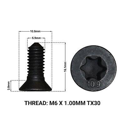 2004/>2014 2 x FRONT BRAKE DISC RETAINING SCREWS DRS1667K VW CADDY MK3