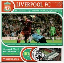 Liverpool 2006-07 Maccabi Haifi (Mark Gonzalez) Football Stamp Victory Card #601