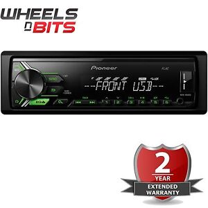 NEW-Pioneer-MVH-190UBG-Mechless-Car-radio-Stereo-USB-Aux-Android-Ready-RDS-Tuner