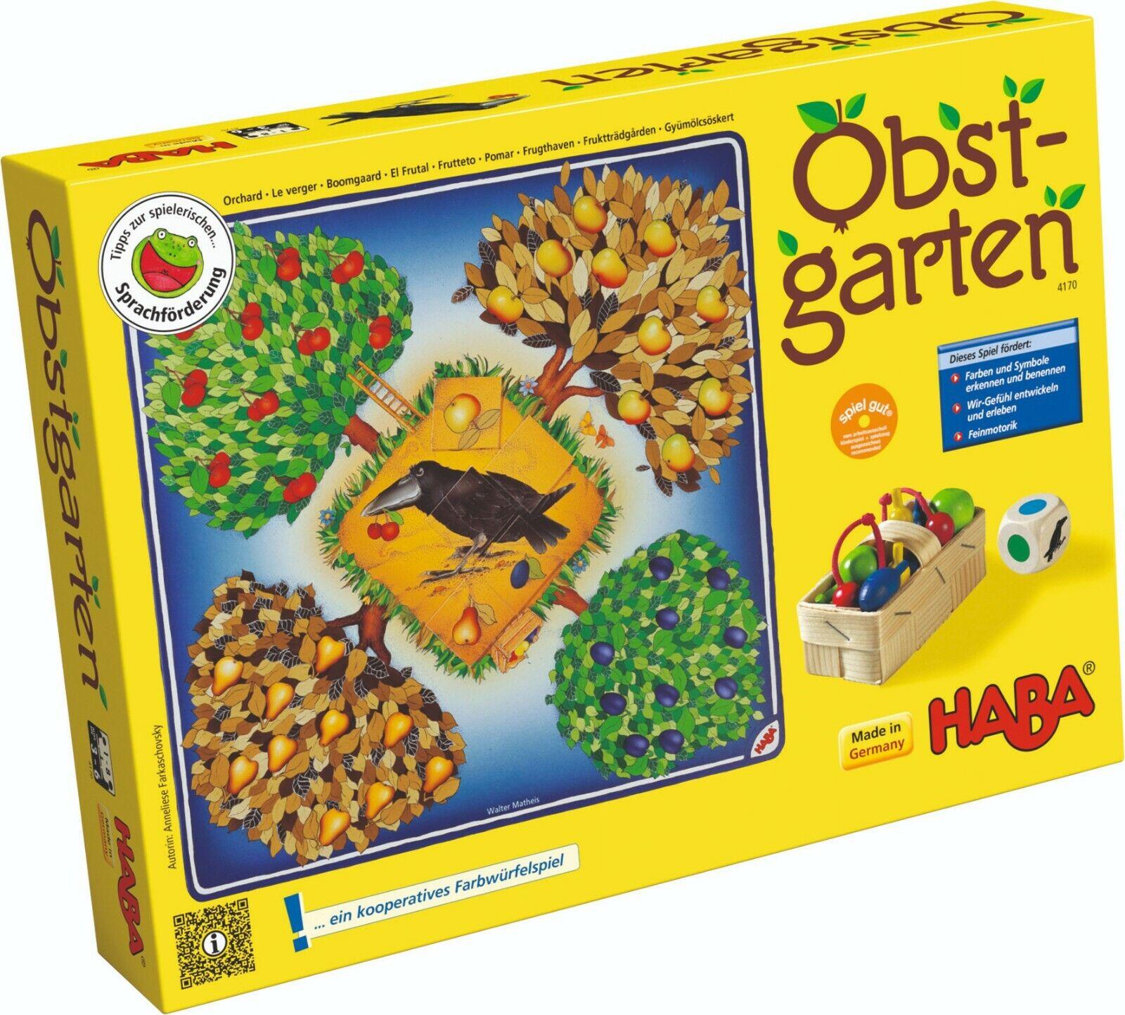 Haba Fruit Orchard 4170 Cooperative Game Farben-Lernspiel