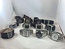 Wholesale Lot Men's Diesel Leather/Stainless Bracelet Digital/Analog(12 watches)